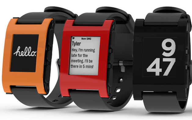 orange black red smart watch