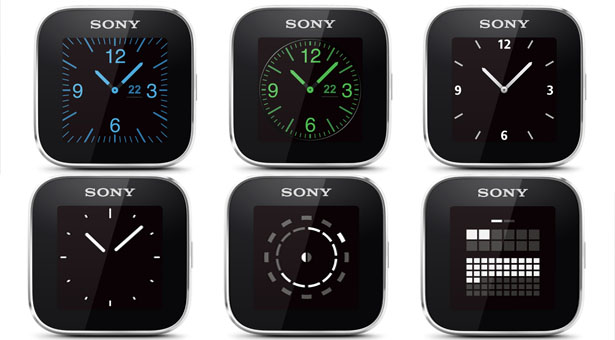 Sony SmartWatch экран
