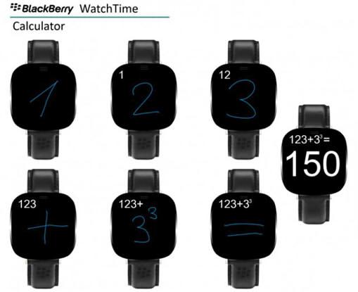 умные часы blackberry калькулятор