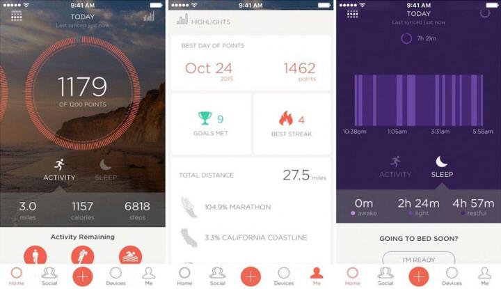 misfit shine 2 приложение