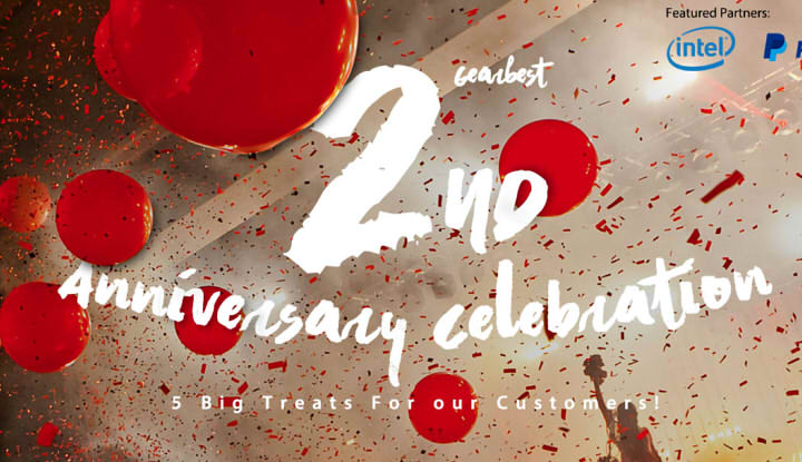 Вторая годовщина GearBest