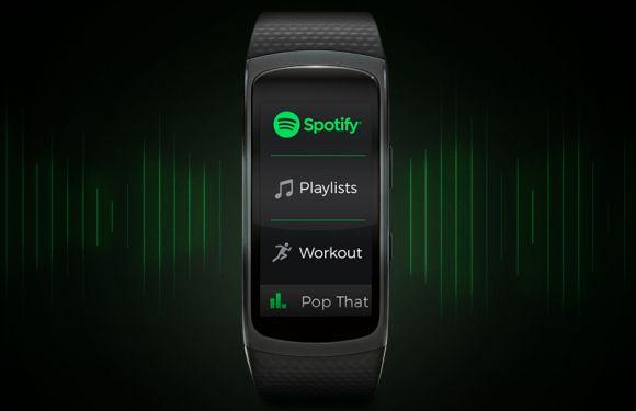 Spotify управление музыкой Gear Fit 2