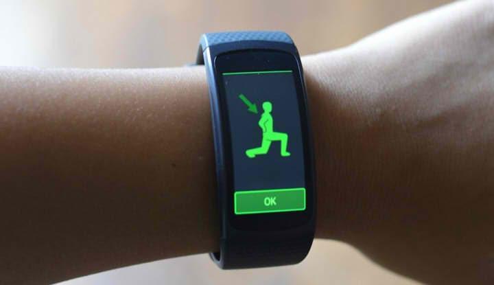 Приложение для фитнеса на браслеты Samsung Gear Fit2