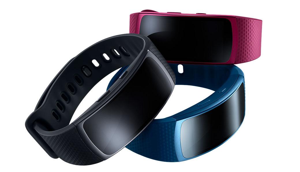 Samsung Gear Fit 2 черный, голубой, розовый
