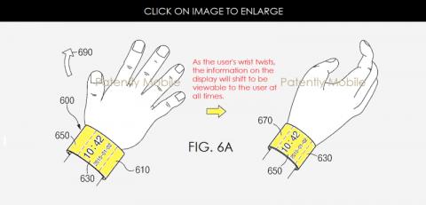 Патент гибкого умного браслета Samsung