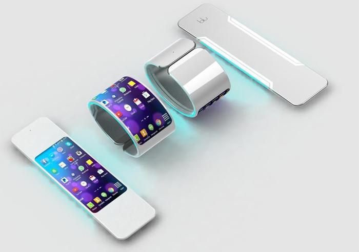 Гибкий смартфон-браслет Blu