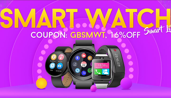 Распродажа умных часов 11.11 на GearBest