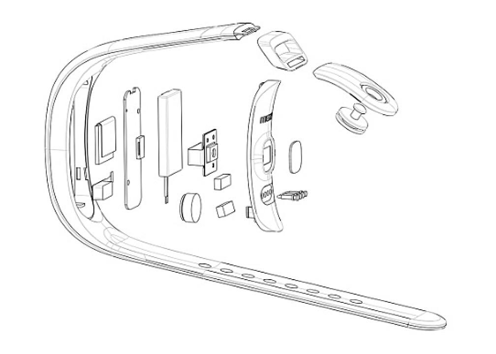 Конструкция браслета Meizu H1