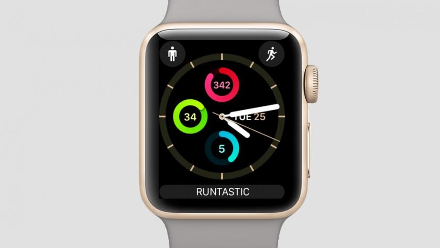 Беговое комбо циферблата Apple Watch