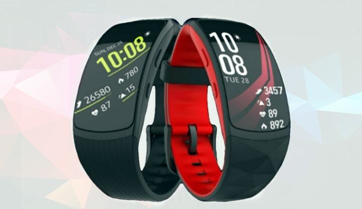 Новые фотографии фитнес-гибрида Samsung Gear Fit2 Pro с мониторингом плавания и Spotify