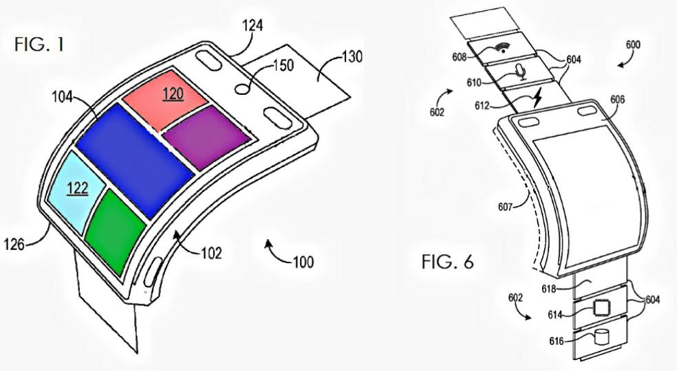 Схемы смартчасов Microsoft модульным ремешком