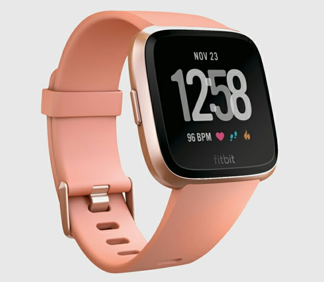 Fitbit - розовые часы