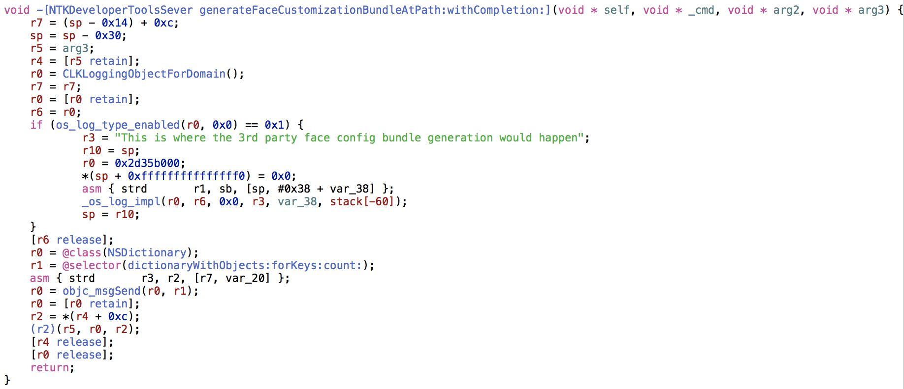 Фрагмент кода WatchOS