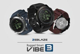 Вечные часы Zeblaze Vibe 3 с красивым дизайном и новым интерфейсом