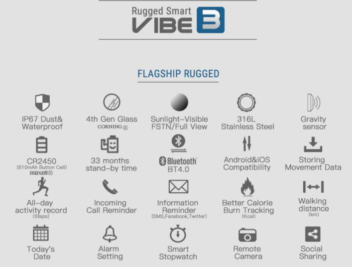 Zeblaze Vibe 3 - преимущества