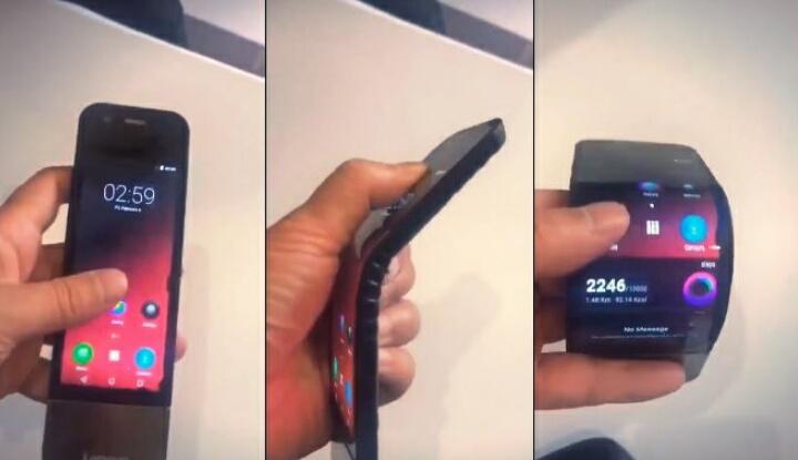 В ближайшие дни Lenovo представит гибкий смартфон, который можно носить, как часы