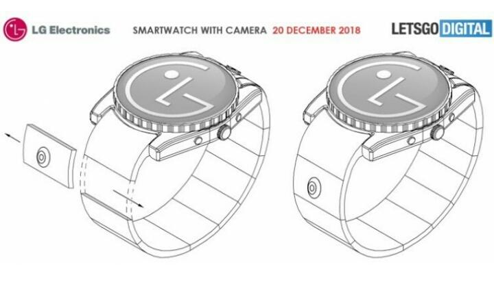 LG запатентовал умные часы с камерой в ремешке