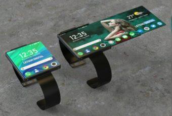 """Oppo"" запатентовал безумные смартчасы со складным дисплеем"
