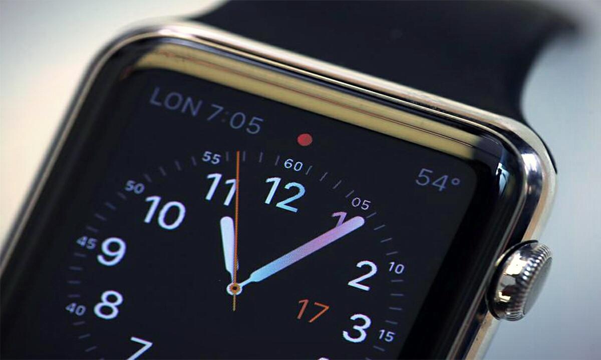 Крупный план экрана Apple Watch
