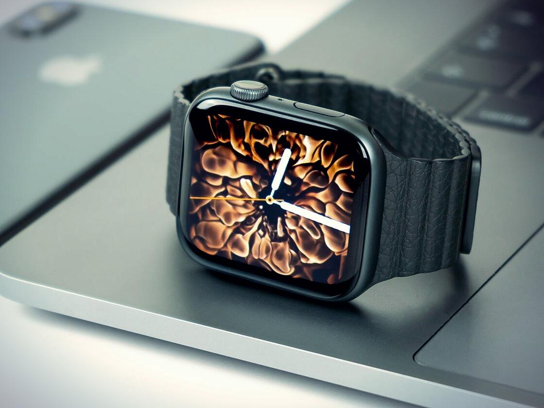 Огненный циферблат Apple Watch
