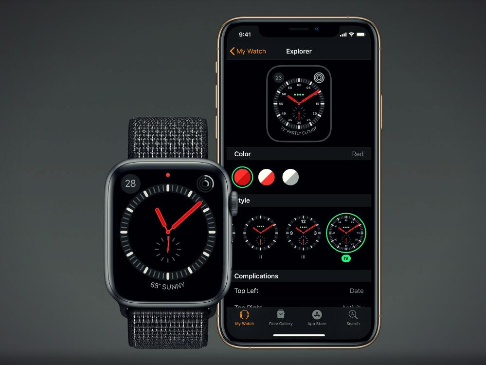 Настройка циферблата Apple Watch через iPhone