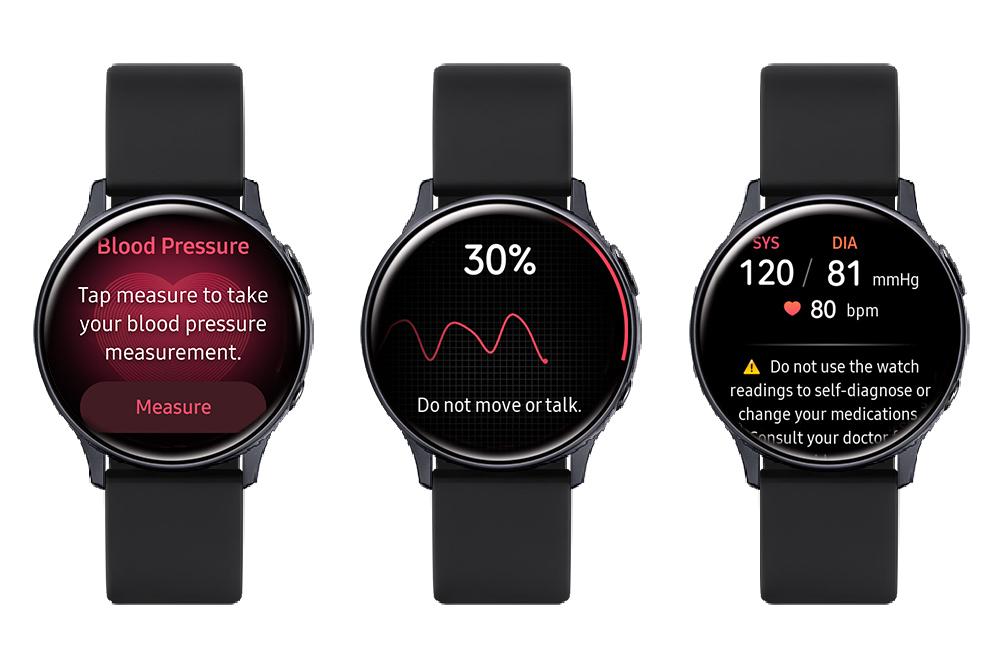 Измерение давления с помощью Galaxy Watch Active 2
