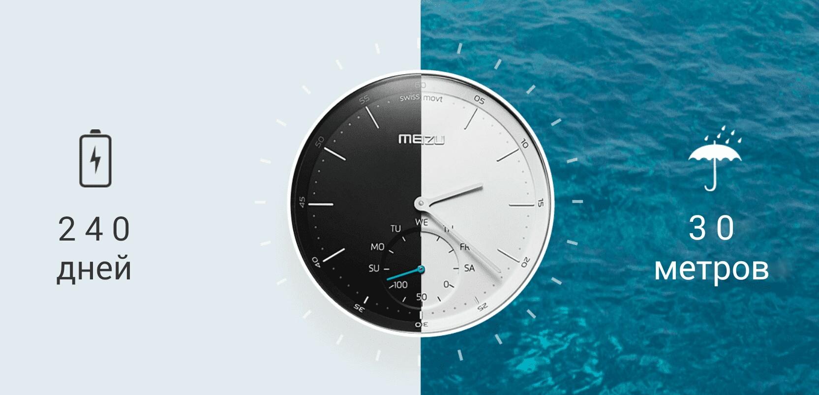 Гибридные часы Meizu Mix
