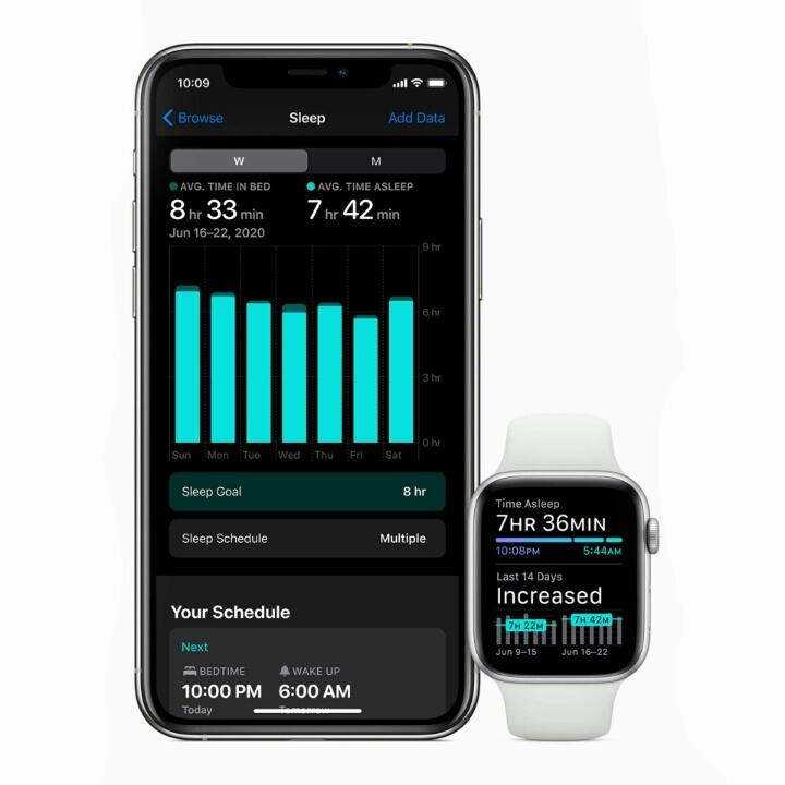 Отслеживание сна в Apple Watch