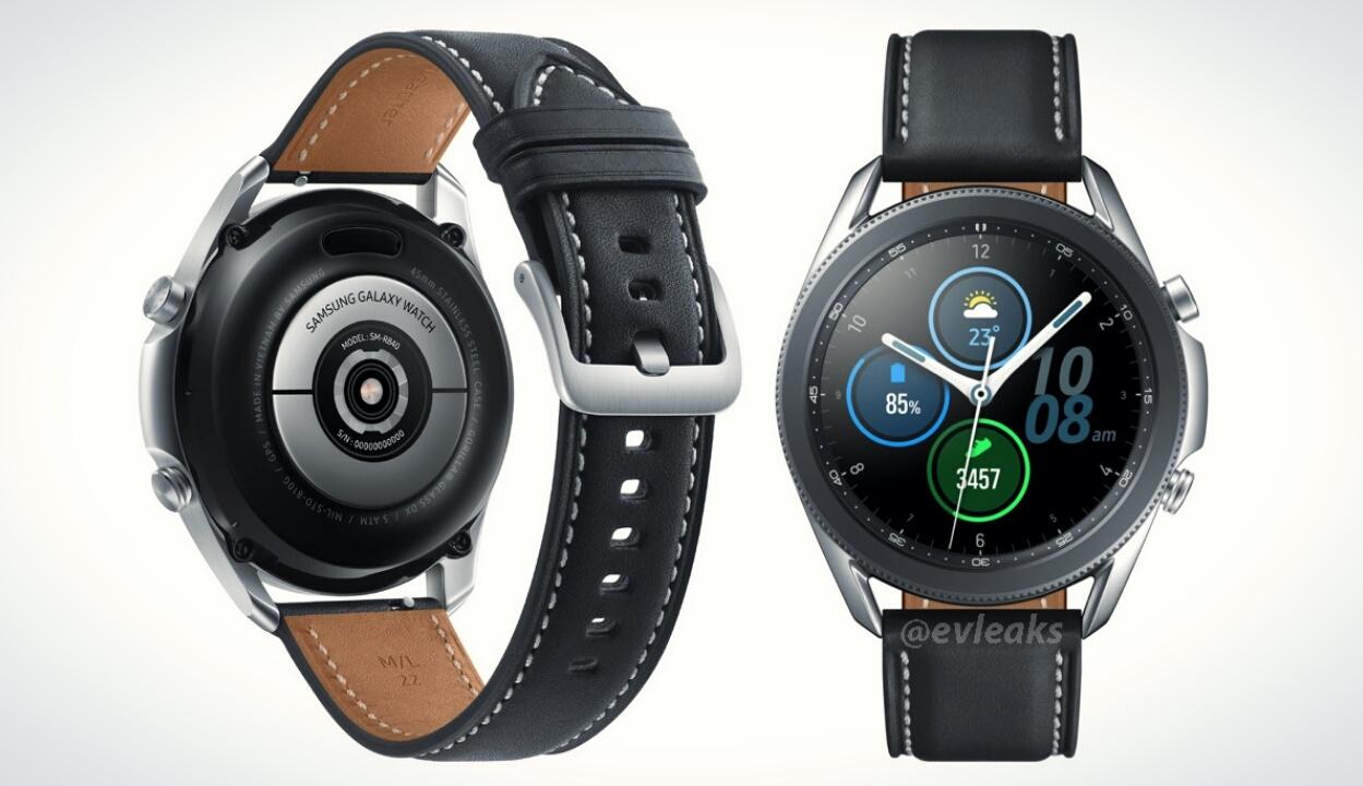 Чёткий рендер Galaxy Watch 3