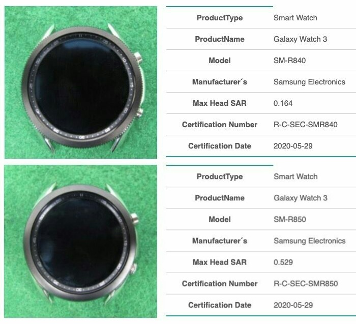 Умные часы Samsung Galaxy Watch 3. Модели SM-R840 и SM-R850.