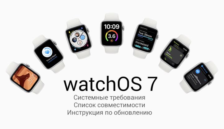 Системные требования и инструкция по установке watchOS 7. Какие часы Apple Watch поддерживают обновление до свежей версии ОС?