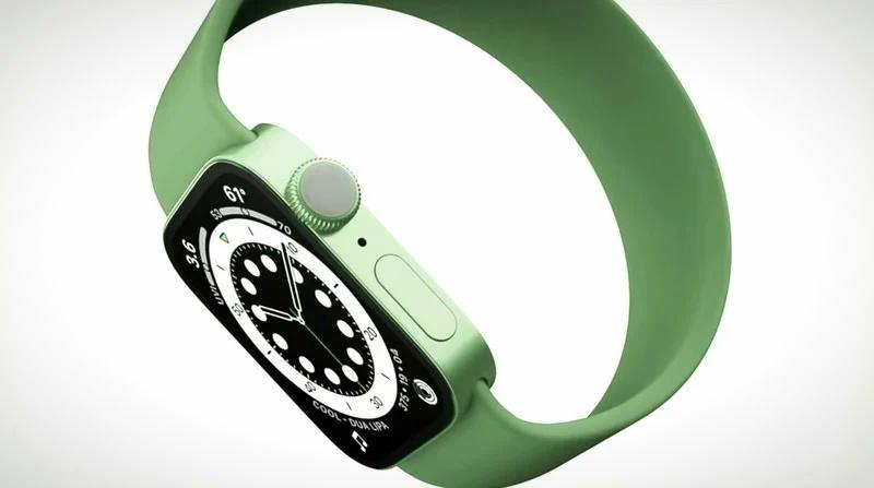 Зелёные Apple Watch Series 7